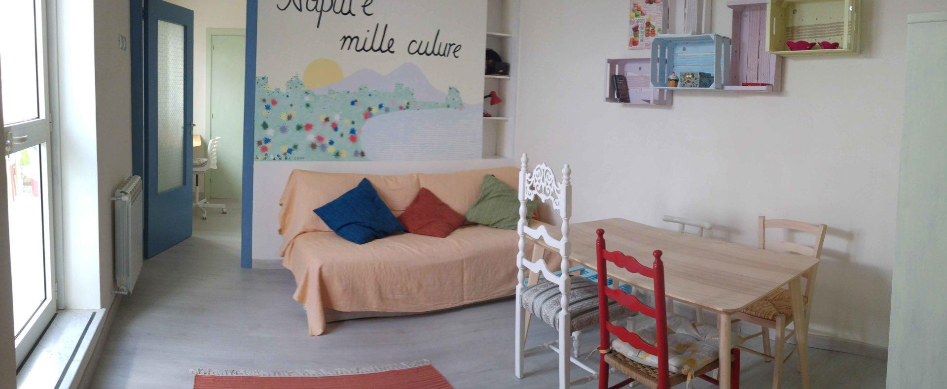 Inhoming casa Rusella, attico panoramico, soggiorno pranzo