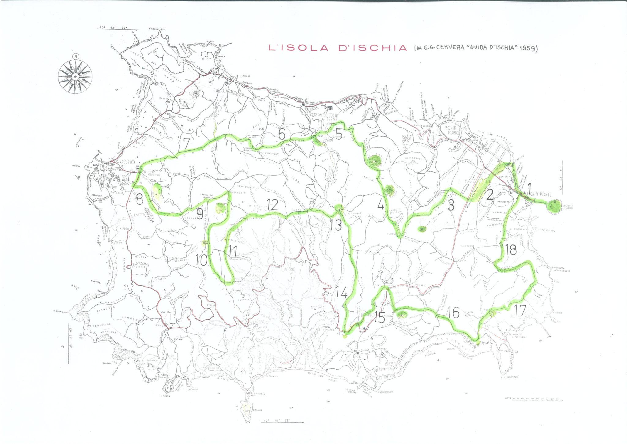 Mappa giro d'Ischia 1959