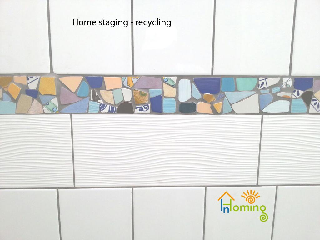 Recycling riutilizzo di mattonelle
