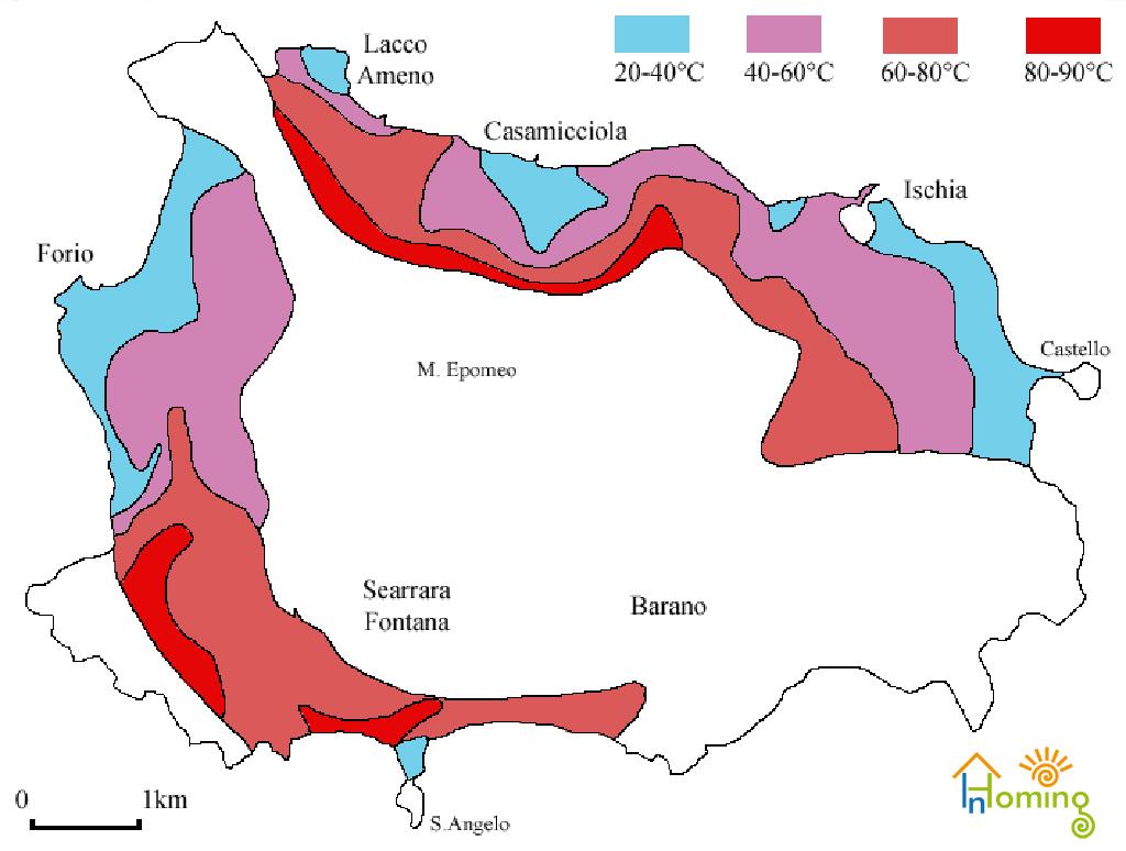 Monte Epomeo Ischia - Acque termali temperature
